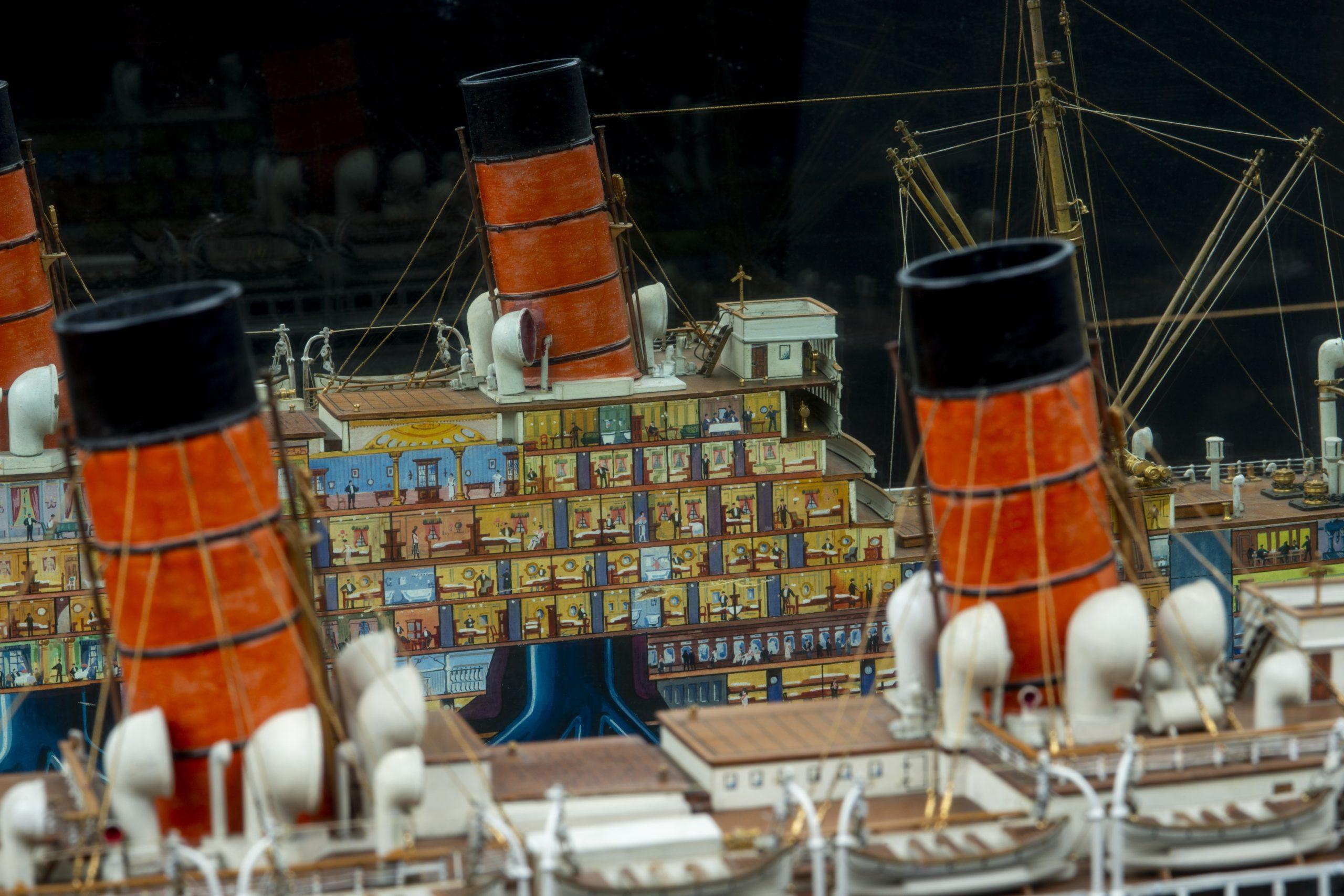 Inside Aquitania: a ship model in detail
